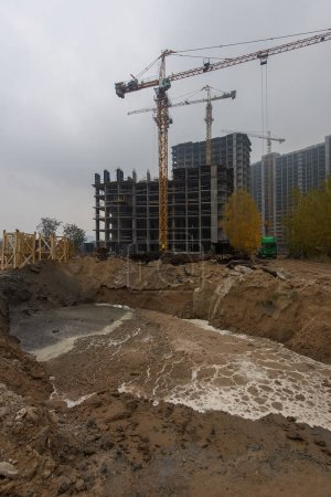 construction of a residential complex in the city of Brovary, Ukraine