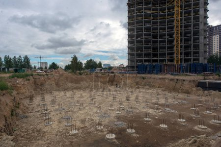 Ukraine, Brovary September 7, 2017: construction of a residential complex