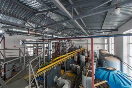 Brovary, Ukraine 02/13/2017: boiler station in Brovary