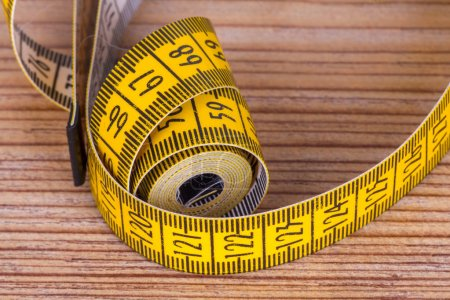 Close Up Detailed Yellow Tape Measure