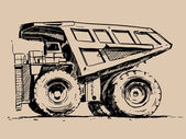 mining truck sketch