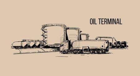 Oil terminal sketch