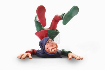 Court jester figurine, cartoon character...