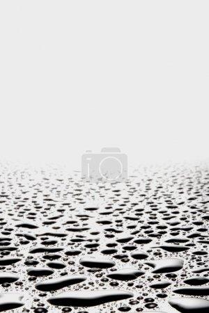 Photo pour Gouttes d'eau sur une plaque de verre - image libre de droit
