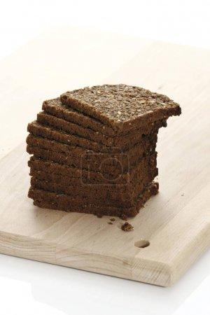 Sliced whole grain black bread