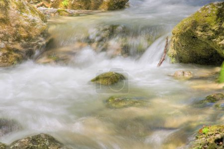 close up of flowing Mountain stream