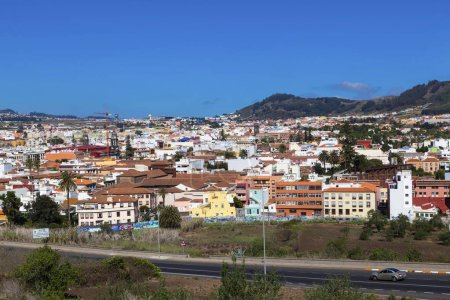 Photo pour Maisons colorées de San Cristobal de La Laguna, San Cristbal de La Laguna, La Laguna, Tenerife, Îles Canaries, Espagne, Europe - image libre de droit