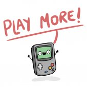 Play More Game Boy Background Vector Image