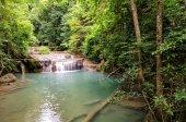 Erawan Waterfalls (Thailand) fairy atmosphere in the Erawan National Park