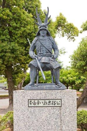 Monument to Honda Tadakatsu in Okazaki Castle, Aichi Prefecture,