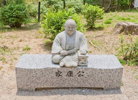 Sculpture of Tokugawa Ieyasu in Okazaki Castle,  Japan