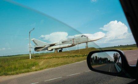 Photo pour Supersonique, des avions d'attaque tous temps mis au point en Union soviétique. L'appareil est doté d'une aile à balayage variable et de deux moteurs - image libre de droit