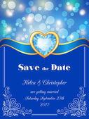 Bokeh save the date card