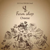 sketch of cheese food card