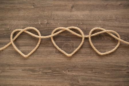 Three rope hearts