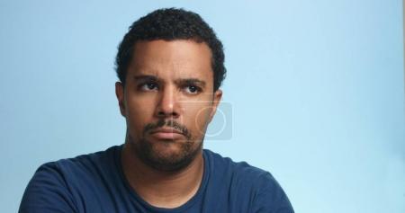 sleepy mixed race man portrait