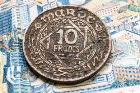 Photo for Close up view of ancient coin - Royalty Free Image
