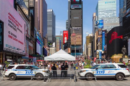 Photo for New York, NYC, USA- August 27, 2017: People at Times Square ,Midtown Manhattan. - Royalty Free Image