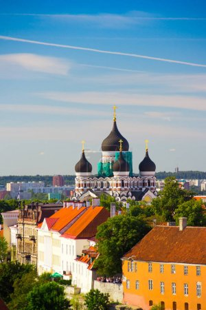 Cityscape view with Alexander Nevsky Cathedral, an orthodox cath