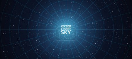 Illustration for Vector stars night sky background clear starry sky - Royalty Free Image