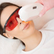 Removal of unwanted hair laser Epilation on face m...