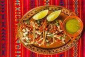 tacos al pastor mexican spicy food in mexico city