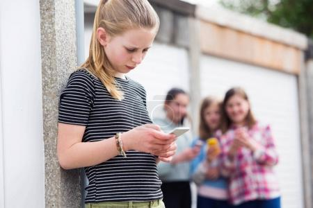 Pre Teen Girl Being Bullied By Text Message...