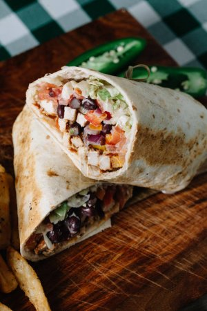 Photo for BLACKENED CHICKEN WRAP wit - Royalty Free Image