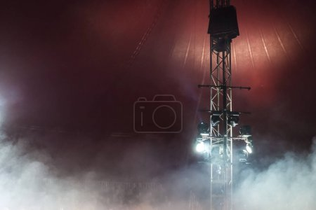 Stage lights and smoke