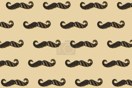 Mustaches repeated background
