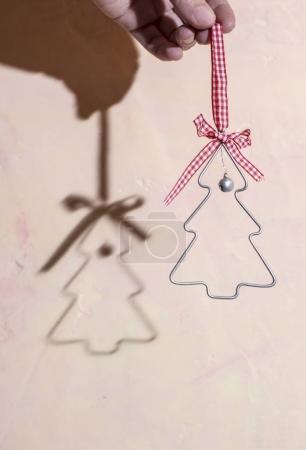 Christmas tree shape.