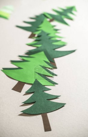 Christmas trees made of paper
