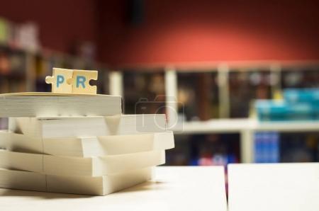 PR puzzle letters.