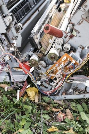 Old broken printers and copiers for scrap