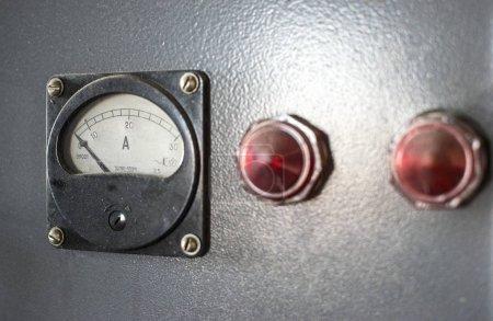 Old Current Meter on background
