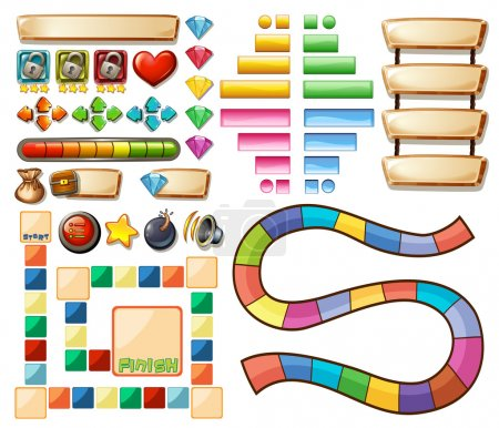 Set of game elements