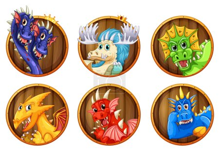 Different characters of dragons