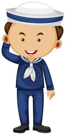 Sailor in blue uniform