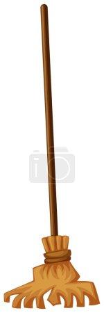 Broom on white background