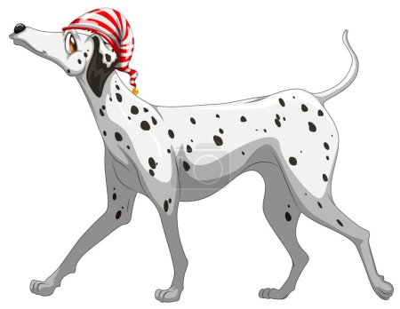 Cute dolmatian dog standing
