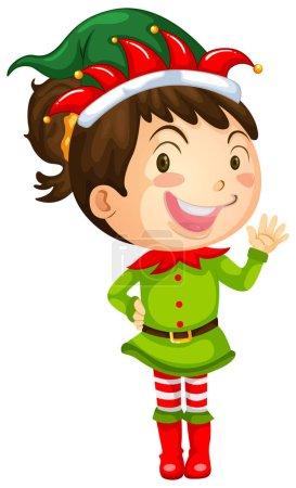 Girl in elf costume
