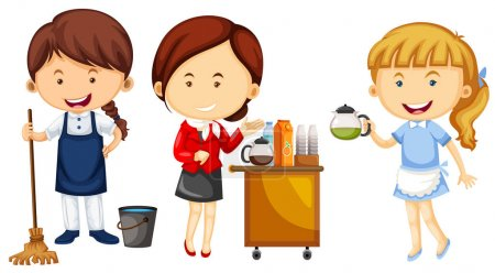 Women doing different kinds of jobs