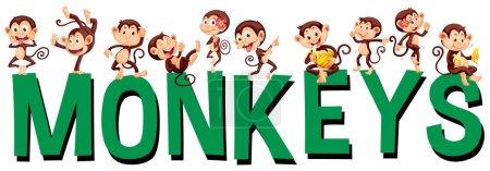 Font design with word monkeys