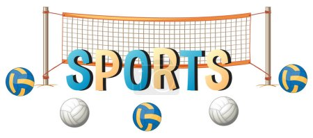 Word design for sports with ball and net