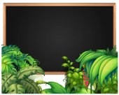 Border template with tropical plants