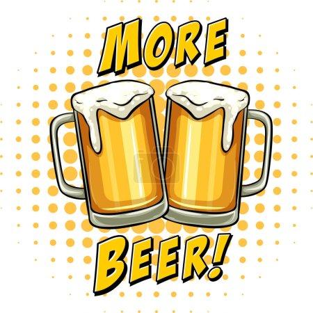 Illustration pour Bière fraîche dans des verres illustration - image libre de droit