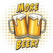 Fresh beer in glasses