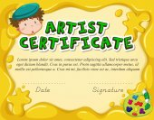 Certificate template for artist