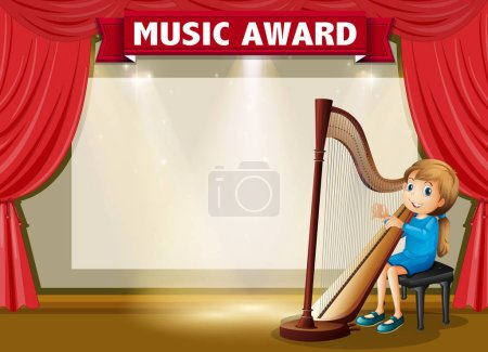 Certificate template for music award