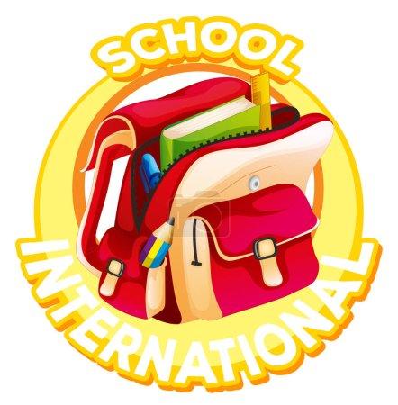 School logo design for international school